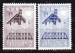 Europa Cept 1957 Belgium 2v ** Mnh (44830) - 1957