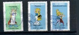 De La Serie Asterix 2019, N° 1731,1729 & 1736-cachets Ronds - Used Stamps