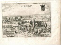 Liedekercke Domus Illumi Comitis De Bossu 1649 - Prenten & Gravure