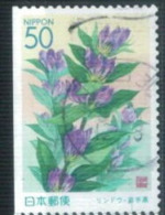 Coil - From Booklet Pane - Japan 1999 - Iwate Prefecture - Gentian 1 - Usados