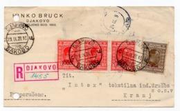1928. YUGOSLAVIA, CROATIA, DJAKOVO TO KRANJ, SLOVENIA, CORRESPONDENCE CARD, HINKO BRUCH - Covers & Documents