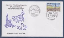 = Salon National Philatélie Polaire, Exposition Régionale Congrès D'Automne Strasbourg 12-13.10.96 Timbre 3018 Bitche - Events & Commemorations