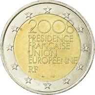 France, 2 Euro, European Union Presidency, 2008, TTB, Bi-Metallic, Gadoury:10 - France