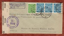 Brief, Ziffer, PSST Wenzendorf Ueber Buchholz, Nach Genf, Britische Zensur, 1947 (79855) - Zone AAS