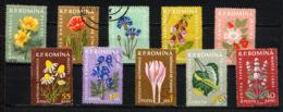 ROUMANIE ROMANA 1957, Plantes Médicinales, 10 Valeurs, Oblitérés / Used. R456 - Medicinal Plants