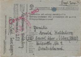 DOPISNICA OD RATMOG ZAROBLJENIKA   26 4 1947   Vers L'Allemagne Zone Anglaise - 1945-1992 Socialist Federal Republic Of Yugoslavia