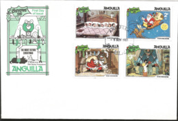 J) 1981 ANGUILLA, THE NIGHT BEFORE CHRISTMAS, MULTIPLE STAMPS, FDC - Anguilla (1968-...)