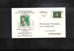 Netherlands 1961 Space / Raumfahrt  Rocket Post With Interesting Label - Period 1949-1980 (Juliana)