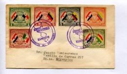VISITA PRESIDENTE MORINIGO. PARAGUAY 1943 SOBRE FDC CIRCULADO A ARGENTINA - LILHU - Paraguay