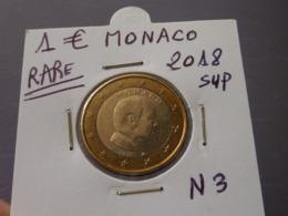 RARE ***  1 EURO MONACO 2018 Sup  ( 2 Photos ) - Monaco