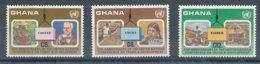 1985, Ghana- Y&T N°895/897 Neufs - Café, Coffe, Cacao, Cocoa, Bois, Timber. - Ghana (1957-...)