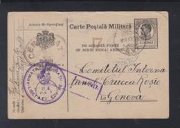 Romania WWI Stationery Reg. 3 Olt Via Russia To Switzerland - 1. Weltkrieg (Briefe)
