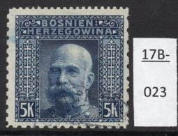 Bosnia Bosnien 1906 5Kr Emperor Franz Josef I 'Coleman' Perf  12x6x9x9 (Perf: 3122) Used (cto) - Bosnia And Herzegovina