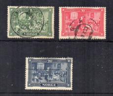 Norvegia - 1914 - Centenario Della Costituzione - 3 Valori - Usati - (FDC17106) - Norvegia