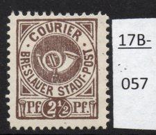 Germany Deutschland Privatpost Local Post Stadtpost : Breslau Courier. Mi. G.8. Mint No Gum. - Private