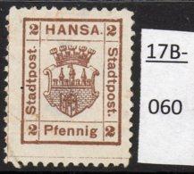 Germany Deutschland Privatpost Local Post Stadtpost : Bromberg. Mi.8. Mint No Gum – Faults. - Private