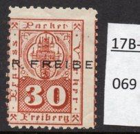 Germany Deutschland Privatpost Local Post Stadtpost :  Freiburg Mi. 17 Mint – See Text. - Private