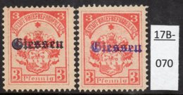 Germany Deutschland Privatpost Local Post Stadtpost :  Giessen Mi. 1a And 1b MH (2). - Private