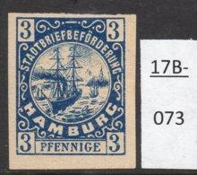 Germany Deutschland Privatpost Local Post Stadtpost : Hamburg Mi. D. 11U Mint No Gum (1). - Private