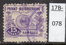 Germany Deutschland Privatpost Local Post Stadtpost :  Hamburg Mi. E.15A Bicycle. Perf 11½ (1). - Private