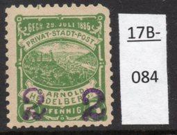 Germany Deutschland Privatpost Local Post Stadtpost :  Heidelberg Mi. A. 40 IIIc MH - Private