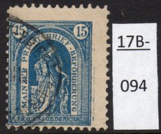Germany Deutschland Privatpost Local Post Stadtpost :  Mainz Mi. C. 34A Used. - Private