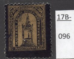 Germany Deutschland Privatpost Local Post Stadtpost :  Mainz Mi. C. 36A Used. - Private