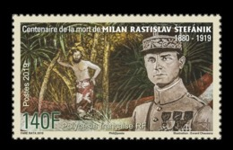 French Polynesia 2019 Mih. 1421 Slovak Astronomer Milan Rastislav Stefanik MNH ** - Polynésie Française