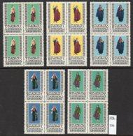 Jordan 1975 Women's Costumes SG 1091-95, Set/5 In MNH Blocks/4 – Not Often Seen Thus. - Jordan