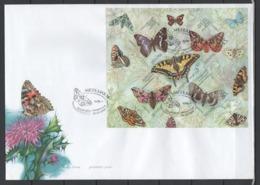 UKRAINE 2004 Mi Block 45(626-630) FDCButterflies / Schmetterlinge - Papillons