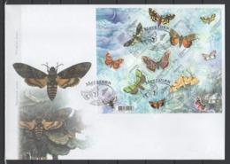 UKRAINE 2005 Mi Block 50(697-701) FDCButterflies / Schmetterlinge - Papillons