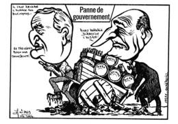 CPM Caricature Satirique Politique J. CHIRAC /  RAFFARIN Alsace  Tirage Limité Illustrateur (2 Scans) - Satiriques