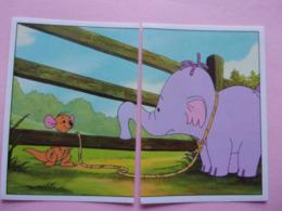PANINI Winnie L'ourson Et L'éfélant Disney N°83 & 84 éléphant Elefant Elefante Elephant Kangourou Kanguru - Panini