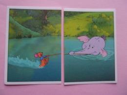 PANINI Winnie L'ourson Et L'éfélant Disney N°112 & 113 éléphant Elefant Elefante Elephant Kangourou Kanguru - Panini