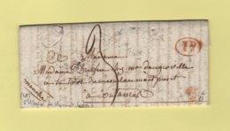 St Hilaire Du Harcouet (à Sec) - 48 - Manche - Dateur Et Decime Rural A Sec - 17 Janvier 1831 - Pour Coutances - 1849-1876: Période Classique