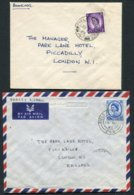 1963-5 GB Field Post Offices X 3 Covers/cards Malta FPO 246 / 757 B.F.P.O. 51 RAF Luqa - Park Lane Hotel London - 1952-.... (Elizabeth II)