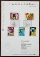 FDC Sur Document - YT N°3372 à 3376 - LE SIECLE DU TIMBRE / COMMUNICATION - 2001 - FDC