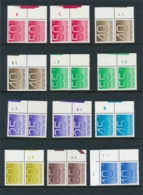 Nederland - Cijferserie Crouwel - 12x Postfris In Paar Met Verschillende Plaatnummers - MNH - 1949-1980 (Juliana)