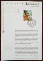 FDC Sur Document - YT N°3382 - NATURE DE FRANCE / FAUNE / CHEVREUIL - 2001 - FDC