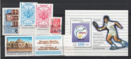 Uzbekistan 1992/94 5 Val. + 1 S/S  **/MNH VF - Uzbekistán