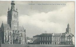 Tienen - Tirlemont - Eglise Notre-Dame Au Lac Et Hôtel De Ville - Phot. H. Bertels - Tienen