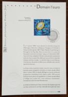 FDC Sur Document - YT N°3402 - DEMAIN L'EURO - 2001 - FDC