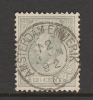 Kleinrond  Amsterdam-Emmerik (type II) Op Nr.22  Willem III  CW. 8,00 - 1852-1890 (Wilhelm III.)
