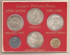 Vaticano - Anno Santo 1983-1984 - Carnet Souvenir:4 Medaglie Di Papi E 2 Monete - Vaticano