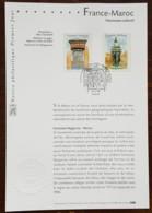 FDC Sur Document - YT N°3441, 3442 - PATRIMOINE CULTUREL FRANCE MAROC - 2001 - FDC