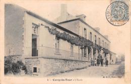 58 - Cercy-la-Tour - Beau Cliché Des Enfants Devant L'Ecole - Sonstige Gemeinden