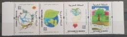 Morocco 2017 MNH Complete Set 4v - Children Painings, Green Stamp, Planet, Environment - Marokko (1956-...)