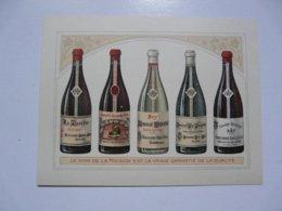 VIEUX PAPIERS - PUBLICITE : BOUCHARD AINE & FILS - Négociants à Beaune - Publicités