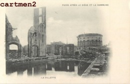 PARIS APRES LE SIEGE ET LA COMMUNE LA VILLETTE EVENEMENT MANIFESTATION HISTOIRE GUERRE FRANCO-PRUSSE - Arrondissement: 19