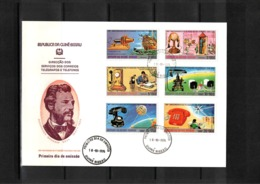 Guinea Bissau 1976 100 Years Of First Telephone Line - Graham Bell FDC - Telecom